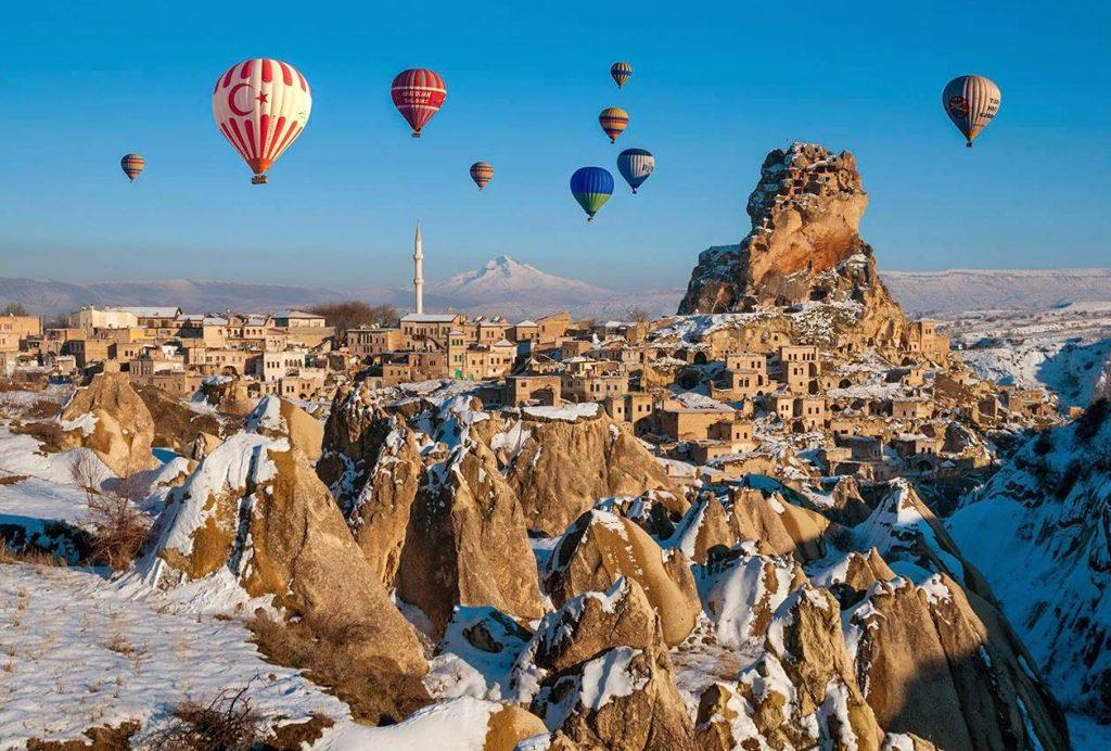 Каппадокия - Воздушные шары зимой