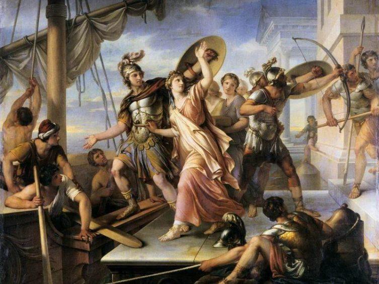 Похищение Елены Парисом - Г. Гамильтон, 1784 г.