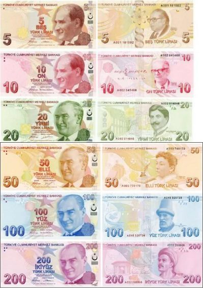 Turkish Lira - banknotes