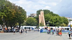 Площадь Султанахмет и трамвай